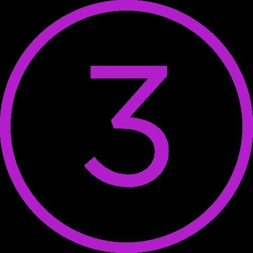 3 in circle